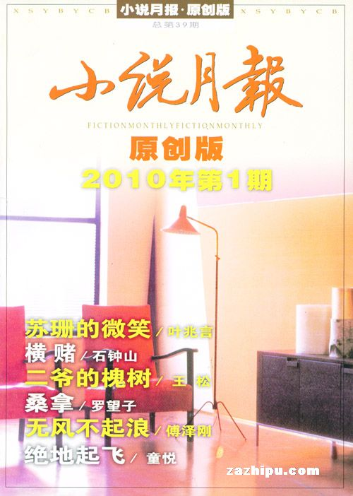 小说月报原创版2010年1月