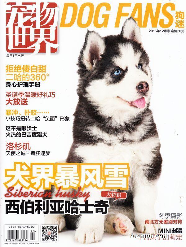 宠物世界(狗迷)2016年12月期封面图片-杂志铺zazhipu.