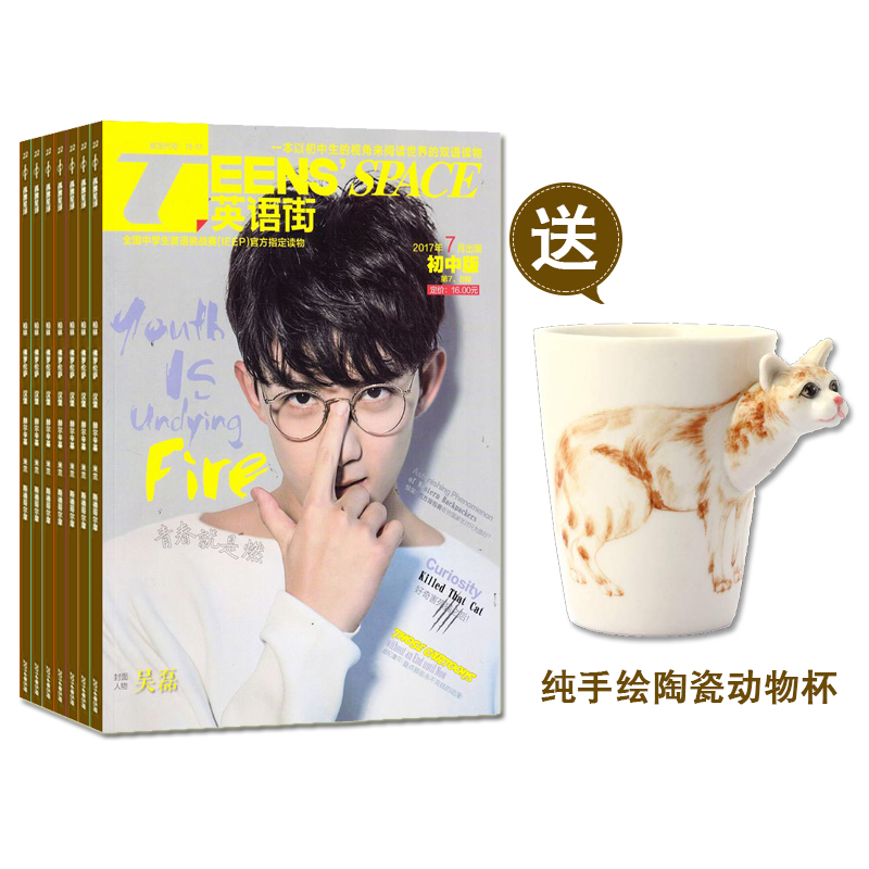 英语街初中版 送纯手绘陶瓷动物杯
