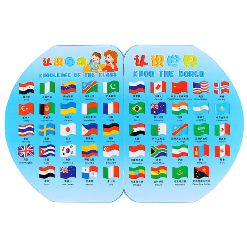 早教少儿插国旗世界地图