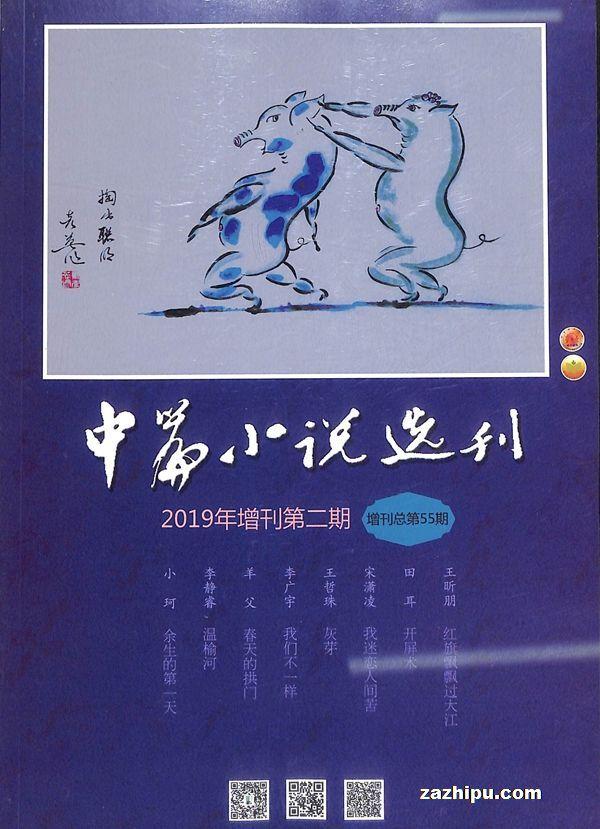 中篇小说选刊增刊2019年10月期