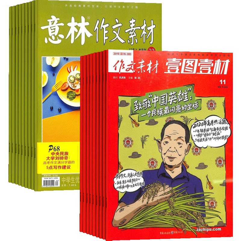 意林作文素材(1年共24期)+壹图壹材(1年共12期)