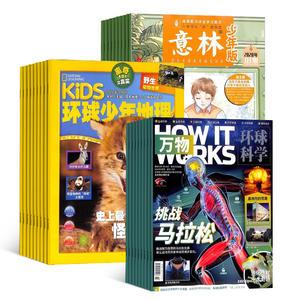 环球少年地理(1年共12期)+万物(1年共12期)+意林少年版(1年共24期)(杂志订阅)
