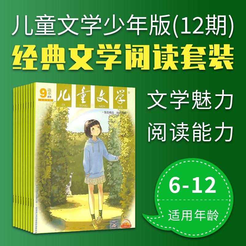 6-12岁学生语文素养及文学经典阅读计划套装 儿童文学少年版12期+18册图书