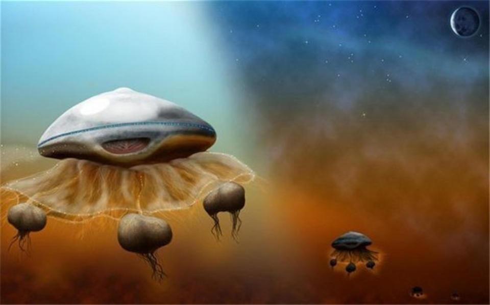 科学家认为外星人是这个样子的 欧洲太空公司Astrium 的博士Maggie Alderin-Pocock 觉得外星人应该长相如水母,或者漂浮的洋葱。Maggie 老师觉得因为这些生物长期漂浮在充满甲烷的云层中,所以它们需要这个样子
