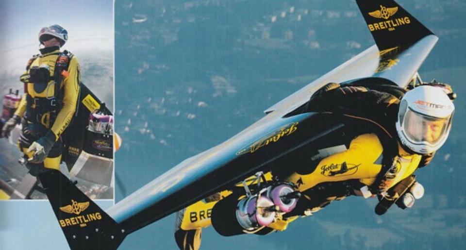 从阿尔比斯山到富士山只需滑翔