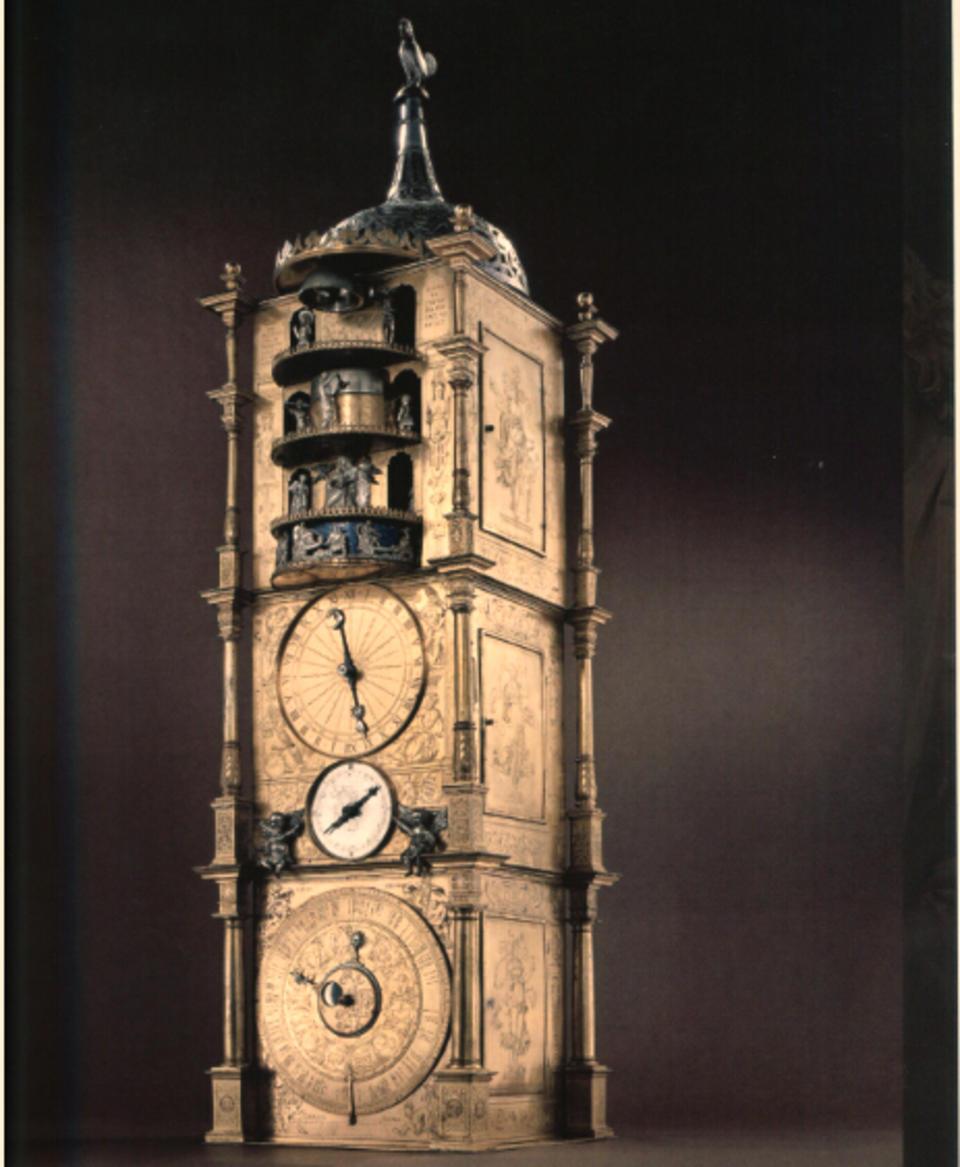 斯特拉斯堡自动琴鸣时钟 制造者为当时德国文艺复兴时期最伟大的机械精密仪器制作大师艾萨特 哈伯海特。
