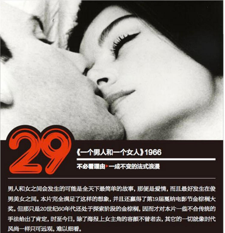 《一个男人和一个女人》1966