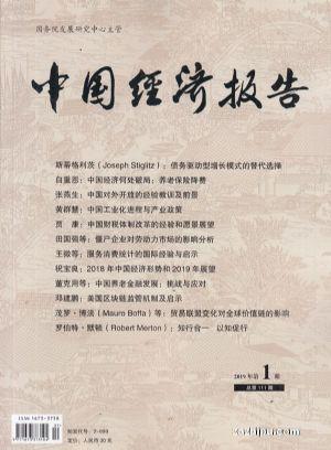中国经济报告2019年1月期