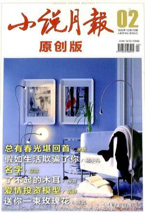 小说月报原创版(半年共6期)(龙8订阅)