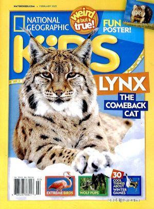 美����家地理�和�版(英文原版)National Geographic Kids(1年共10期)(�s志��)
