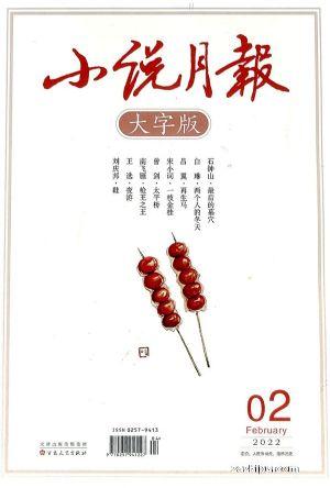 小说月报大字版(1年共12期)(大发极速3d开奖订阅)