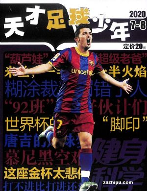天才足球少年(1年共12期)(杂志订阅)