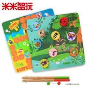 【积分商城】昆虫钓鱼板-飞行棋亲子互动小游戏带骰子(30天内发货)
