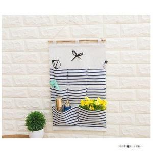 棉麻布收纳挂袋