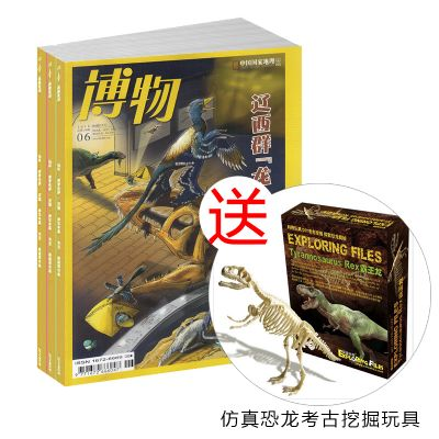 博物(1年共12期)+送仿真恐龙考古挖掘玩具