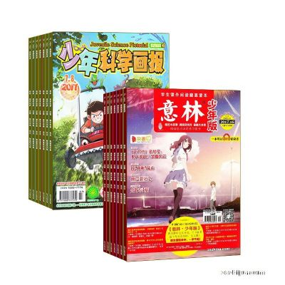 少年科学画报(1年共12期)+意林少年版(1年共12期)(杂志订阅)