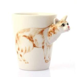 纯手绘陶瓷动物杯