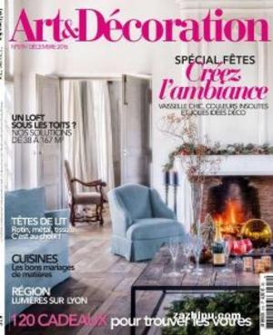 Art & Decoration艺术与装饰(法文)(1年共9期)(杂志订阅)