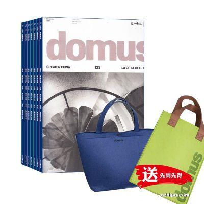 Domus国际中文版(1年共12期)(杂志订阅)+domus背包(蓝色+绿色)