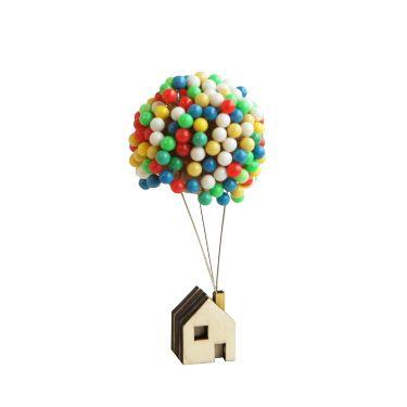 飞屋环游记气球小木屋手工