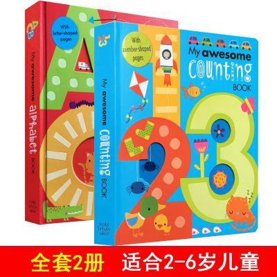 字母书My Awesome Alphabet Counting Book英语绘本2-6岁儿童图书