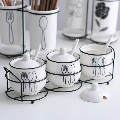 调味罐创意陶瓷3件套