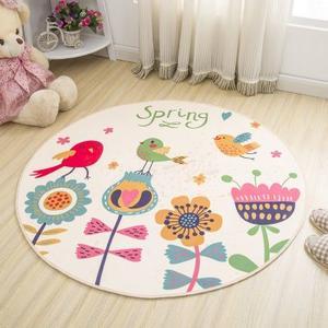 卡通圆形地毯儿童毯