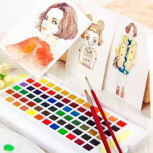 日本樱花24色固体水彩颜料套装
