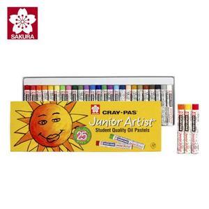 SAKURA樱花XEP25色油画棒 可水洗彩色蜡笔 儿童涂鸦画笔(3岁以上)