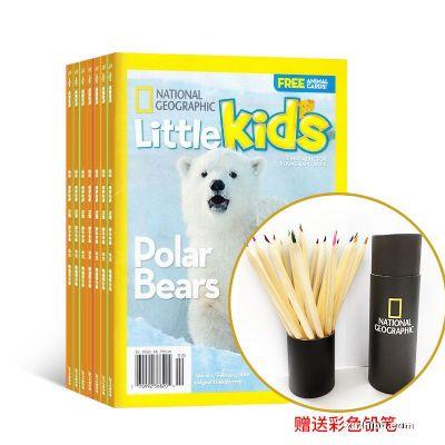 含导读视频 美国国家地理幼儿版3-6岁(英文原版)(1年共6期)+赠送美国国家地理彩色铅笔