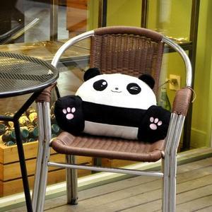 熊猫卡通床头抱枕靠垫办公室护腰靠枕腰垫椅子靠背垫(45*25)