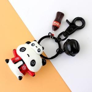 熊猫迷你喷漆扣钥匙扣