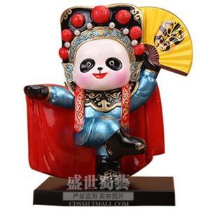 Q版川剧熊猫桌面摆件