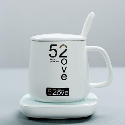加热55°马克杯陶瓷水杯(平底可加热)