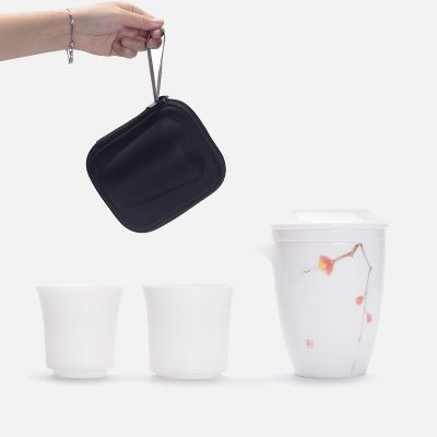 德化白瓷旅行装功夫茶具一壶二杯