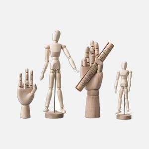创意木头人关节手模型摆件(关节人大号)