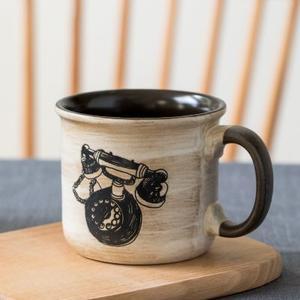 悠瓷复古老式陶瓷水杯