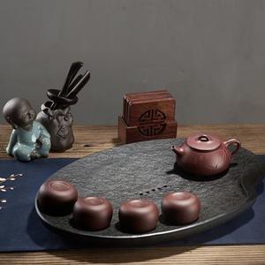 陶瓷故事乌金石凤凰台茶盘贵妃壶禅悟杯套装