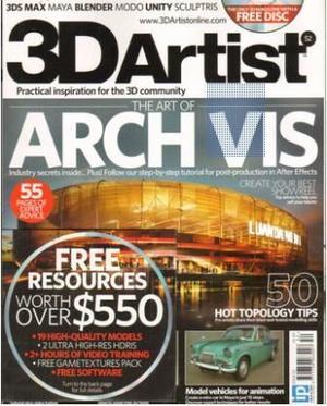三維藝術家3D Artist(英文)(1年共12期)(雜志訂閱)