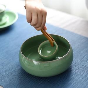 唐匠龙泉青瓷大号陶瓷茶洗(中号)