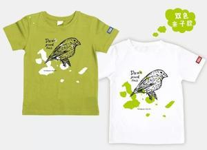 万物T恤-达尔文雀(原野绿)S码