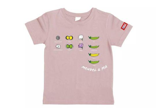万物T恤-孟德尔的豌豆(橡皮粉)L码