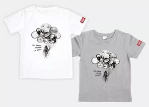 万物T恤-太阳系家族(白色)M码