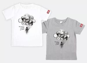 万物T恤-太阳系家族(月球灰)M码