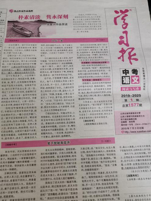 学习报语文中考版阅读与写作版(1年共48期)(杂志订阅)