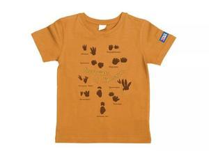 万物T恤-恐龙脚印(橙黄)XS码