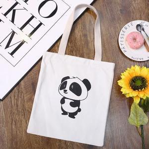 可爱熊猫手提帆布包