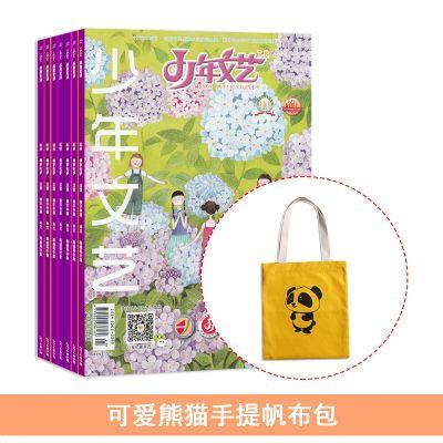 少年文艺(江苏)(1年共12期)+可爱熊猫手提帆布包