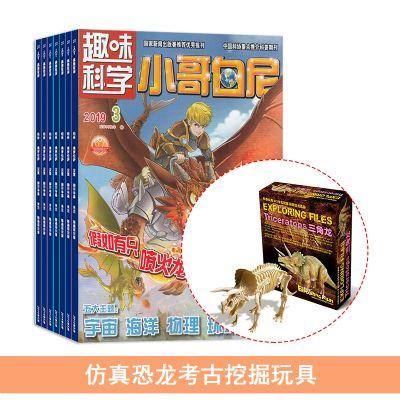 小哥白尼趣味科學畫報(1年共12期)+送仿真恐龍考古挖掘玩具
